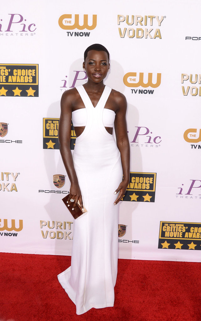 Lupita Nyong'o at the Critics' Choice Awards in Calvin Klein