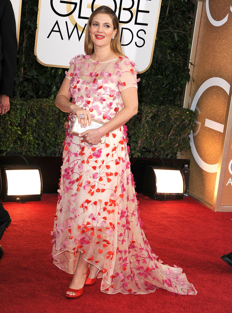 Drew Barrymore at the 2014 Golden Globe Awards