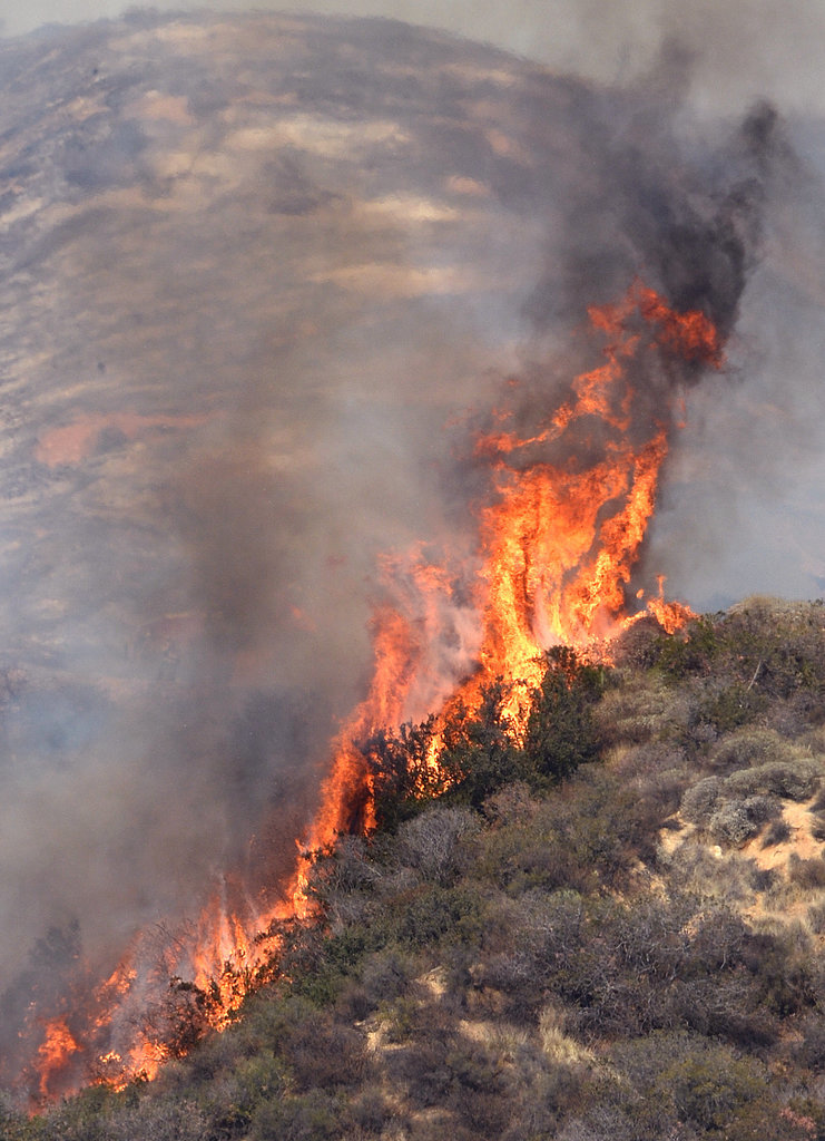 A wildfire broke out in Glendora, CA.