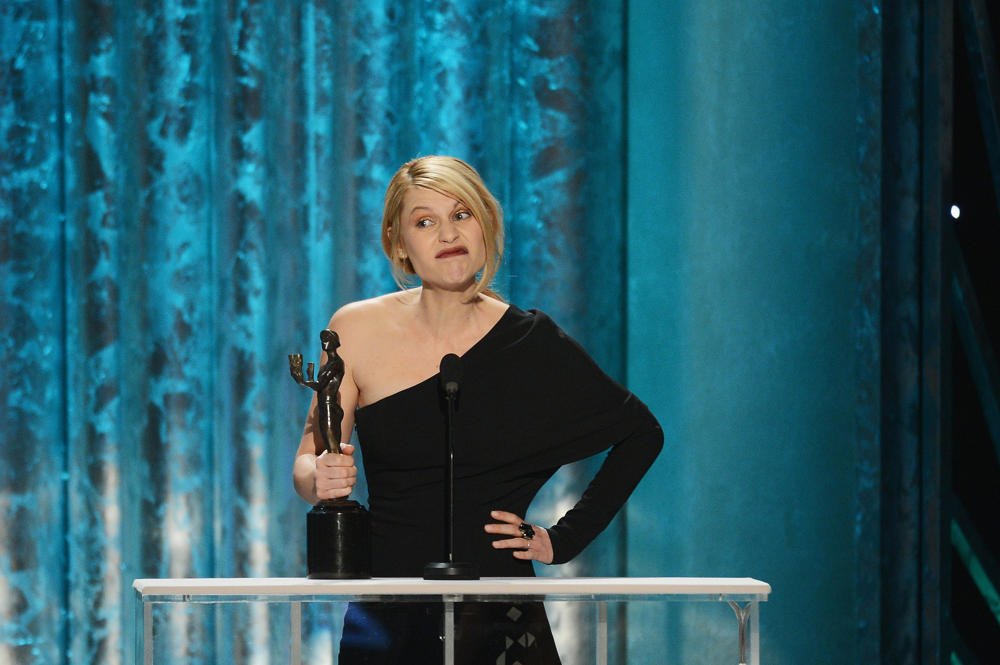 Claire Danes got a few laughs during her 2013 acceptance speech for Homeland.