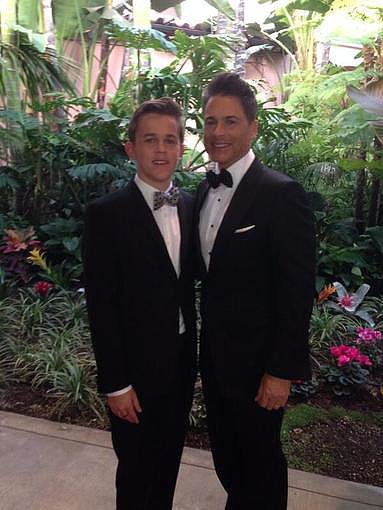 Rob Lowe suited up for the SAG Awards alongside his son. Source: Twitter user RobLowe
