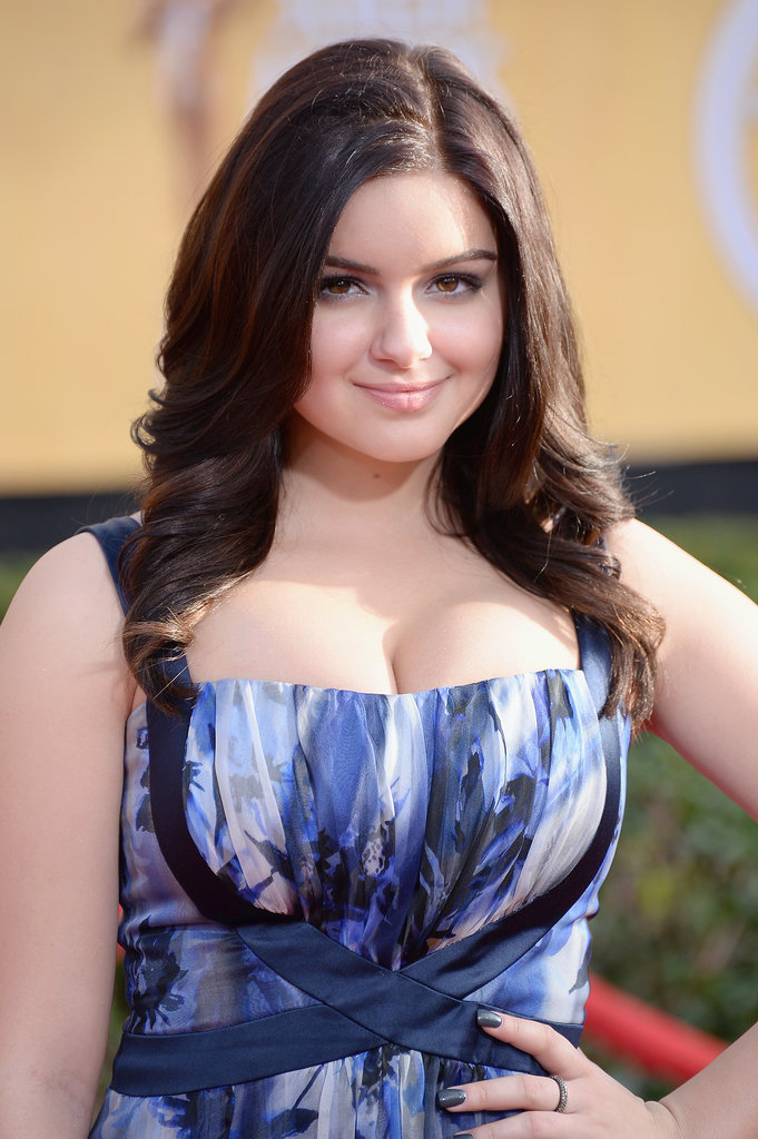Ariel Winter wore a printed gown.