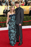 Zoe Kazan and boyfriend Paul Dano walked the SAG Awards red carpet together.
