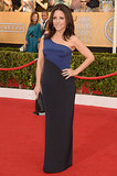 Julia Louis-Dreyfus looked stunning in her colorblock dress.