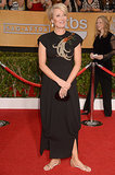 Emma Thompson went for comfort on the red carpet, rocking a pair of flats.