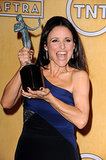 Julia Louis-Dreyfus won a SAG Award for Veep and was overjoyed!