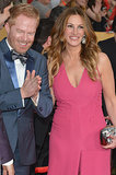 Julia hung out with Jesse Tyler Ferguson on the red carpet.