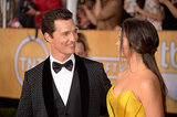 Matthew McConaughey and Camila Alves shared a loving look on the red carpet.