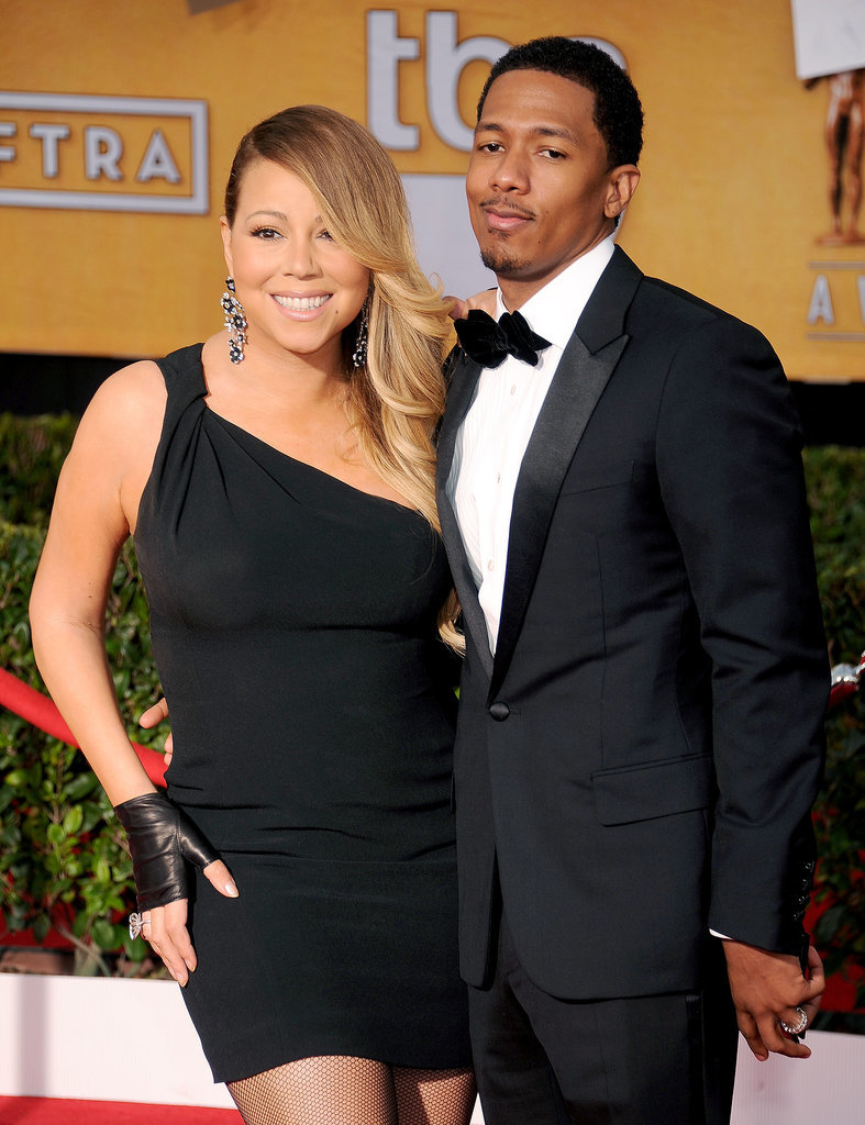 Mariah Carey and Nick Cannon linked up for the show.