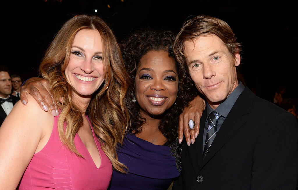 Julia Roberts and Danny Moder posed with Oprah Winfrey.