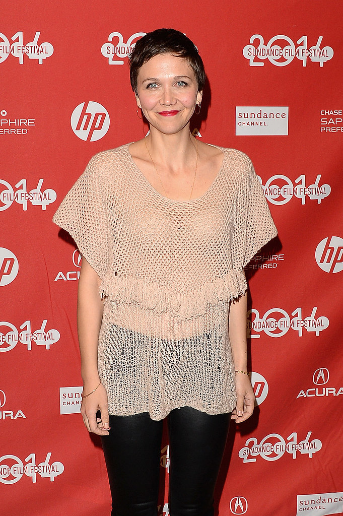 Maggie Gyllenhaal showed off her short 'do at the Frank premiere on Friday.