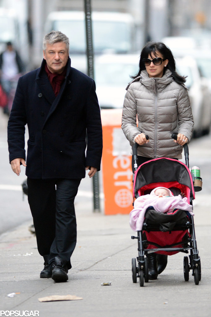 Alec Baldwin and his wife, Hilaria, took their daughter, Carmen, out for a stroll in NYC on Saturday.