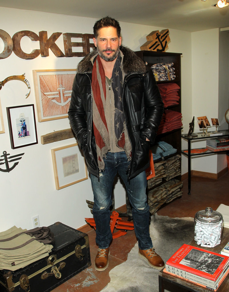 Joe Manganiello rocked a beard and a heavy jacket on Saturday.