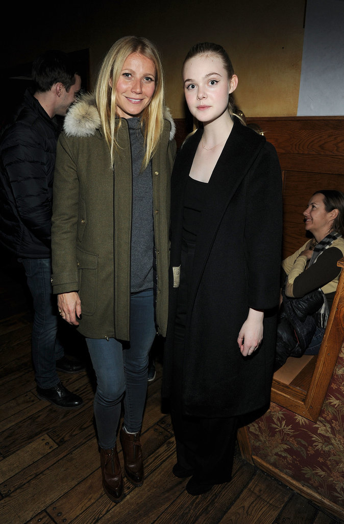 Gwyneth Paltrow and Elle Fanning almost looked related on Friday.