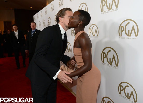 Brad, Lupita, and Leo Dazzle on the Producers Guild Awards Red Carpet