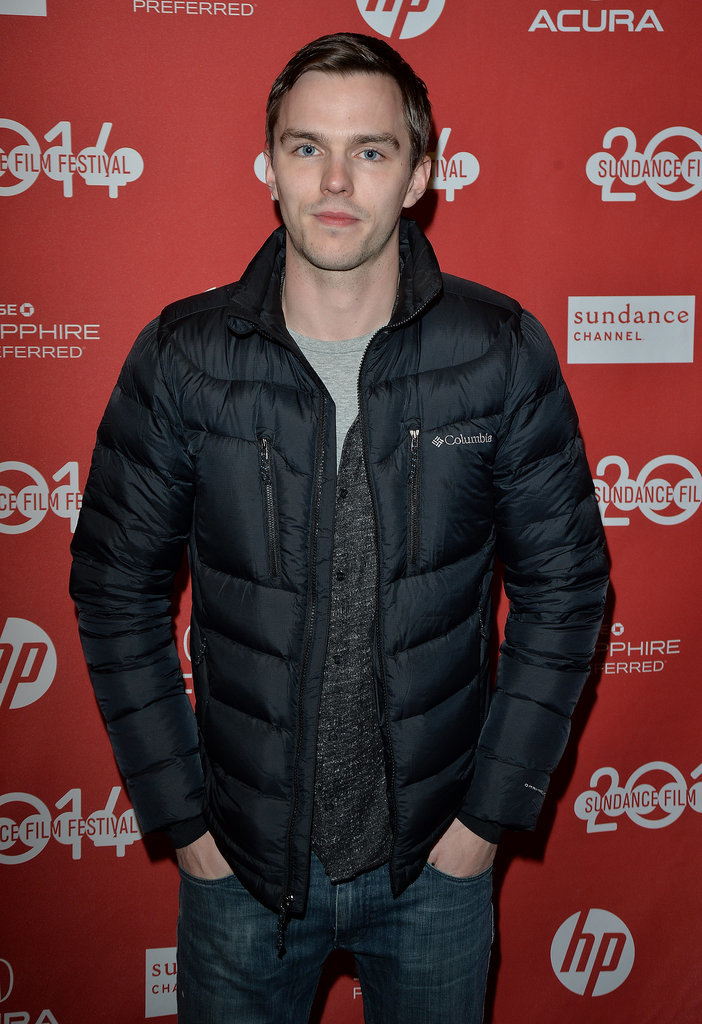 Nicholas Hoult bundled up for his Young Ones premiere on Friday.