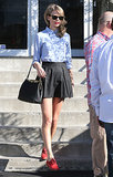 On Sunday, Taylor Swift went shopping for antiques in Culver City, CA.