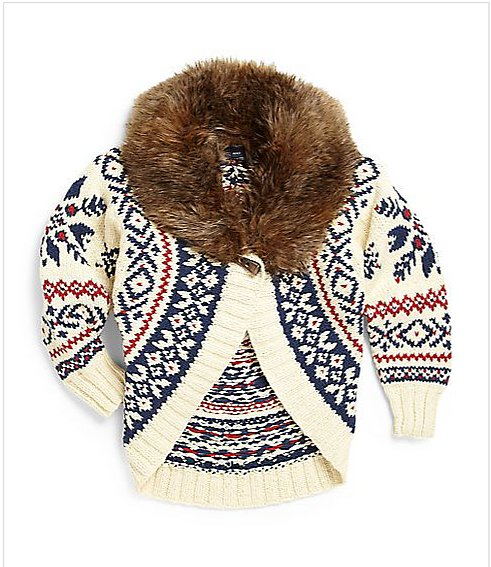 Ralph Lauren Roving Faux-Fur Sweater