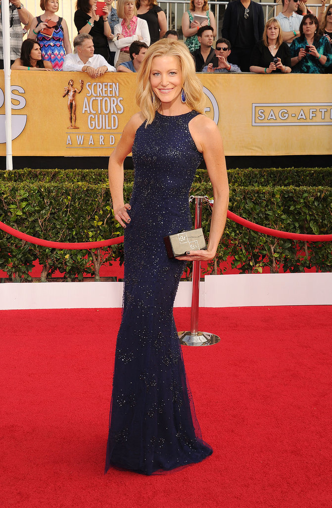 Anna Gunn stopped red carpet traffic with her Breaking Bad-themed clutch.