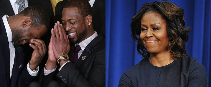 Watch Michelle Obama Dunk With LeBron James