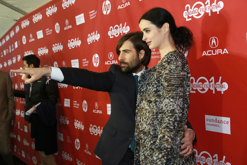 Jason Schwartzman and Krysten Ritter struck a pose at their Listen Up Philip premiere on Monday.