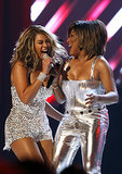 Beyoncé took the stage with Tina Turner during the 2008 show.