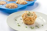 Muffin Tin Chicken Mac and Cheese