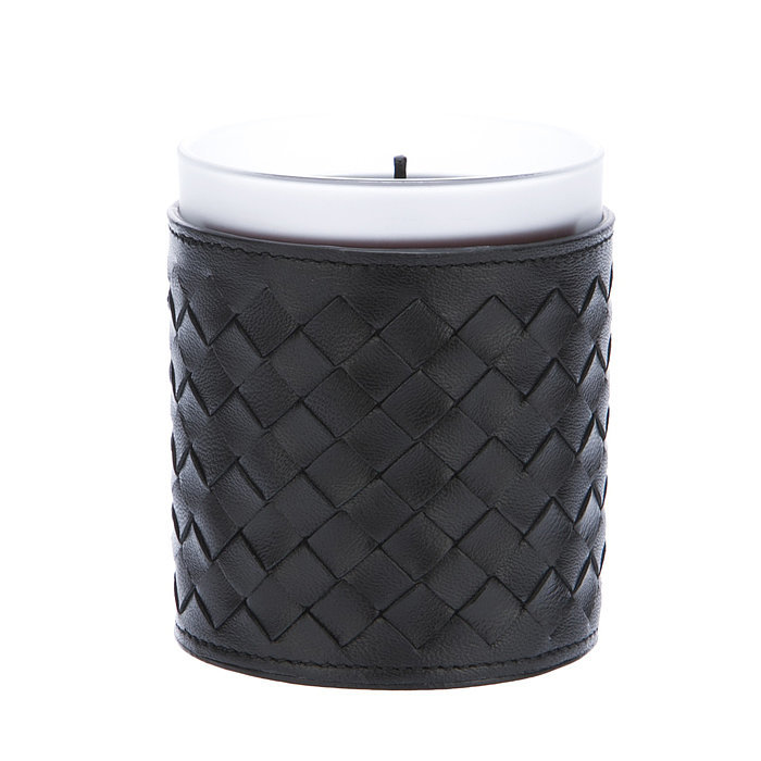 Use a leather-encased candle ($207) to fill your home with understated elegance.