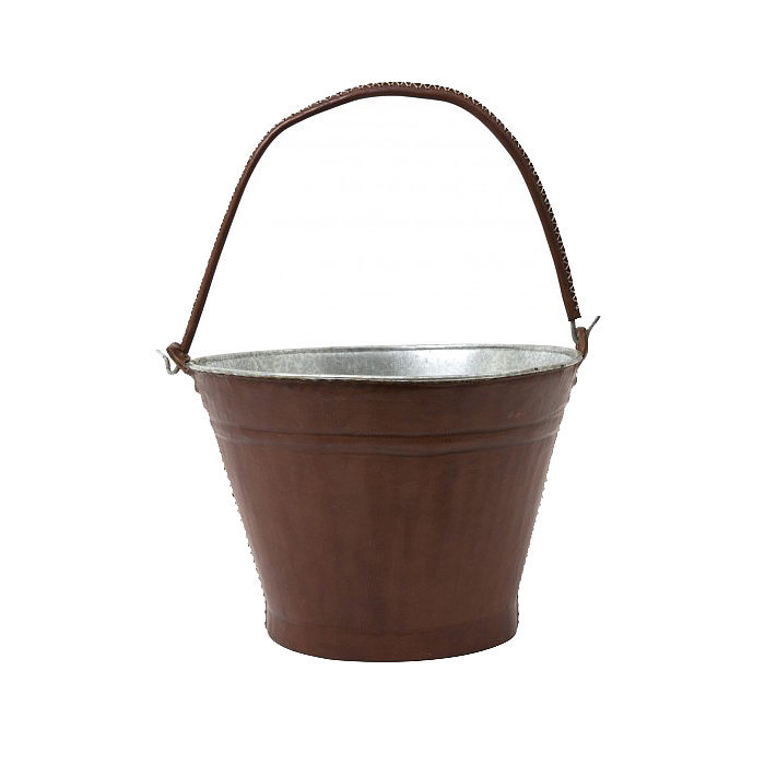 This versatile leather bucket ($150) is the perfect way to store fire logs.