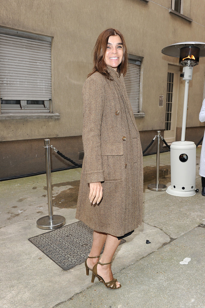 Carine Roitfeld outside the Maison Martin Margiela Haute Couture show.