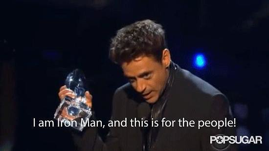 Robert Downey Jr. Accepts His People's Choice . . . as Iron Man