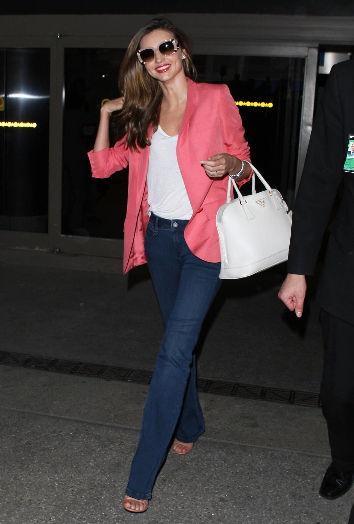 Miranda Kerr arrived at LAX looking impossibly fres