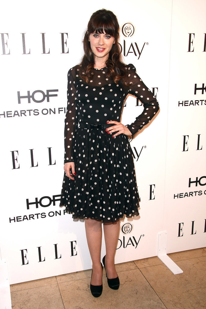 Zooesy Deschanel at the Elle Women in Television Celebration