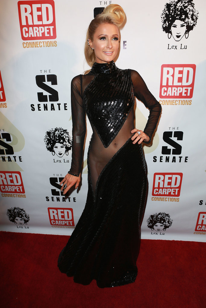 Paris Hilton at Diddy's Pre-Grammy Party