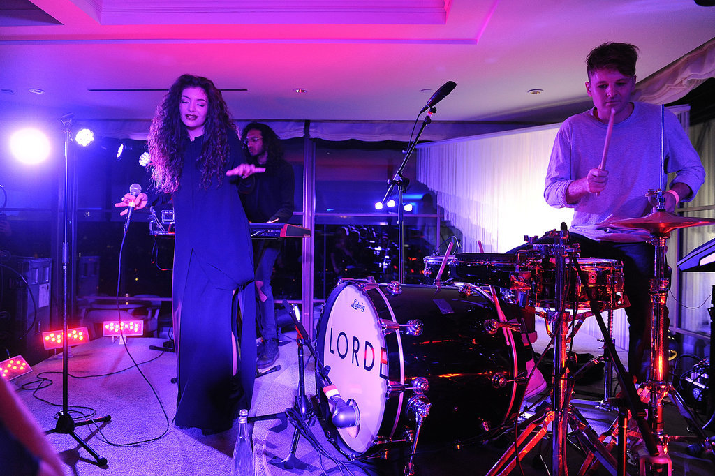Lorde performed at the Delta party.