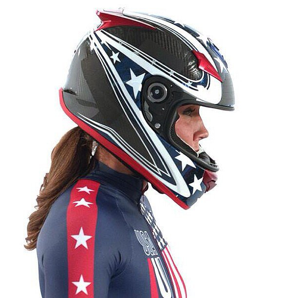 Lolo posed in her official bobsled gear in October 2013. Source: Instagram user lolojones