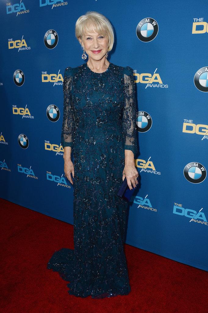 Helen Mirren hit the red carpet for the Directors Guild Awards in LA.