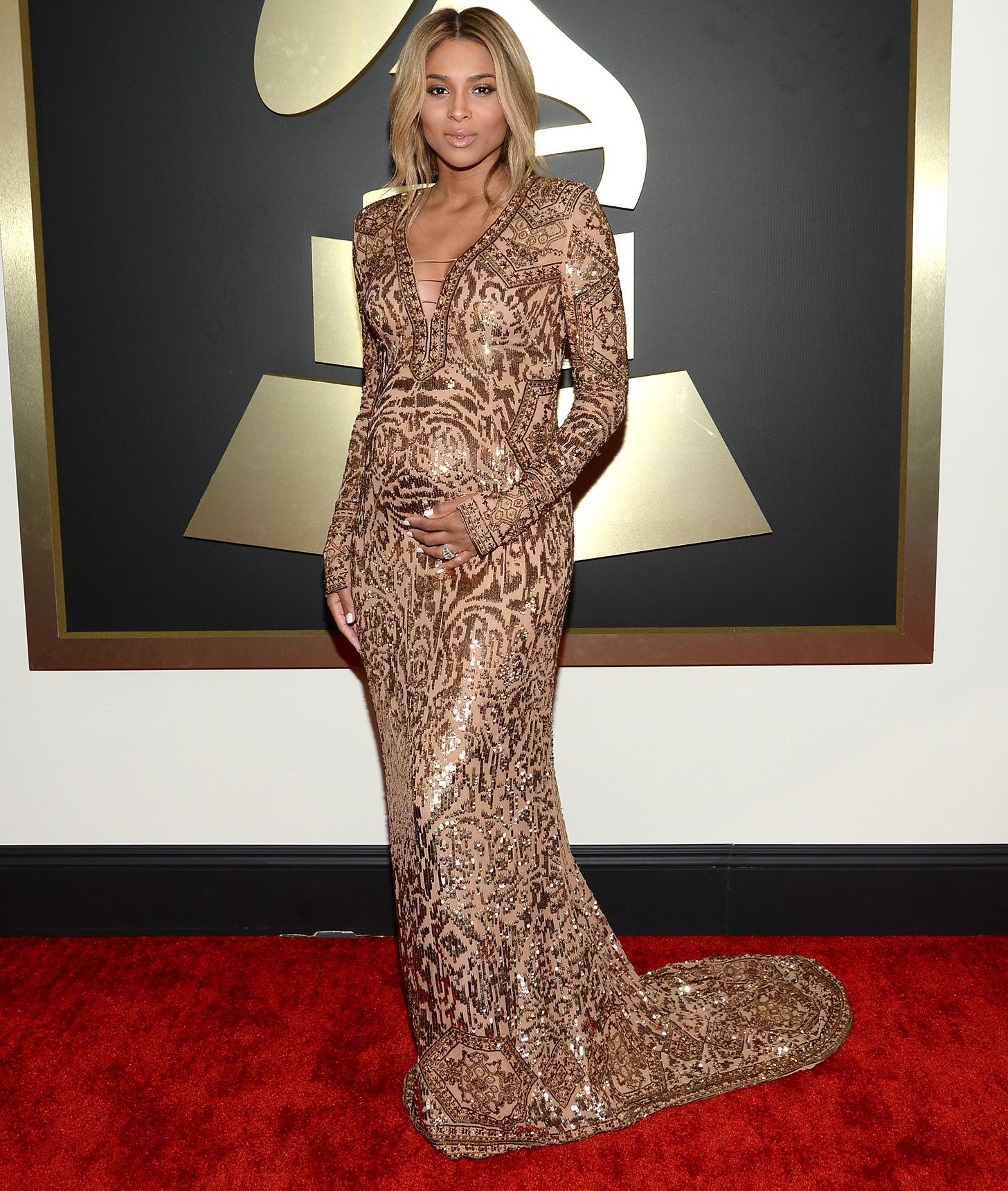 Ciara 39 S Dress At Grammys 2014 Popsugar Fashion
