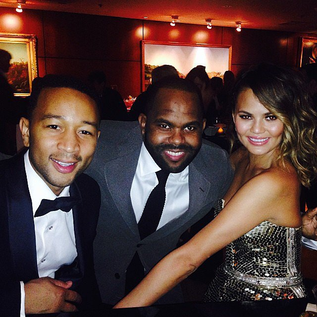A gorgeous Chrissy Teigen shared a picture during the Grammy Awards. Source: Instagram user chrissyteigen