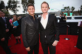 Neil Patrick Harris and David Burtka at the 2014 Grammy Awards.