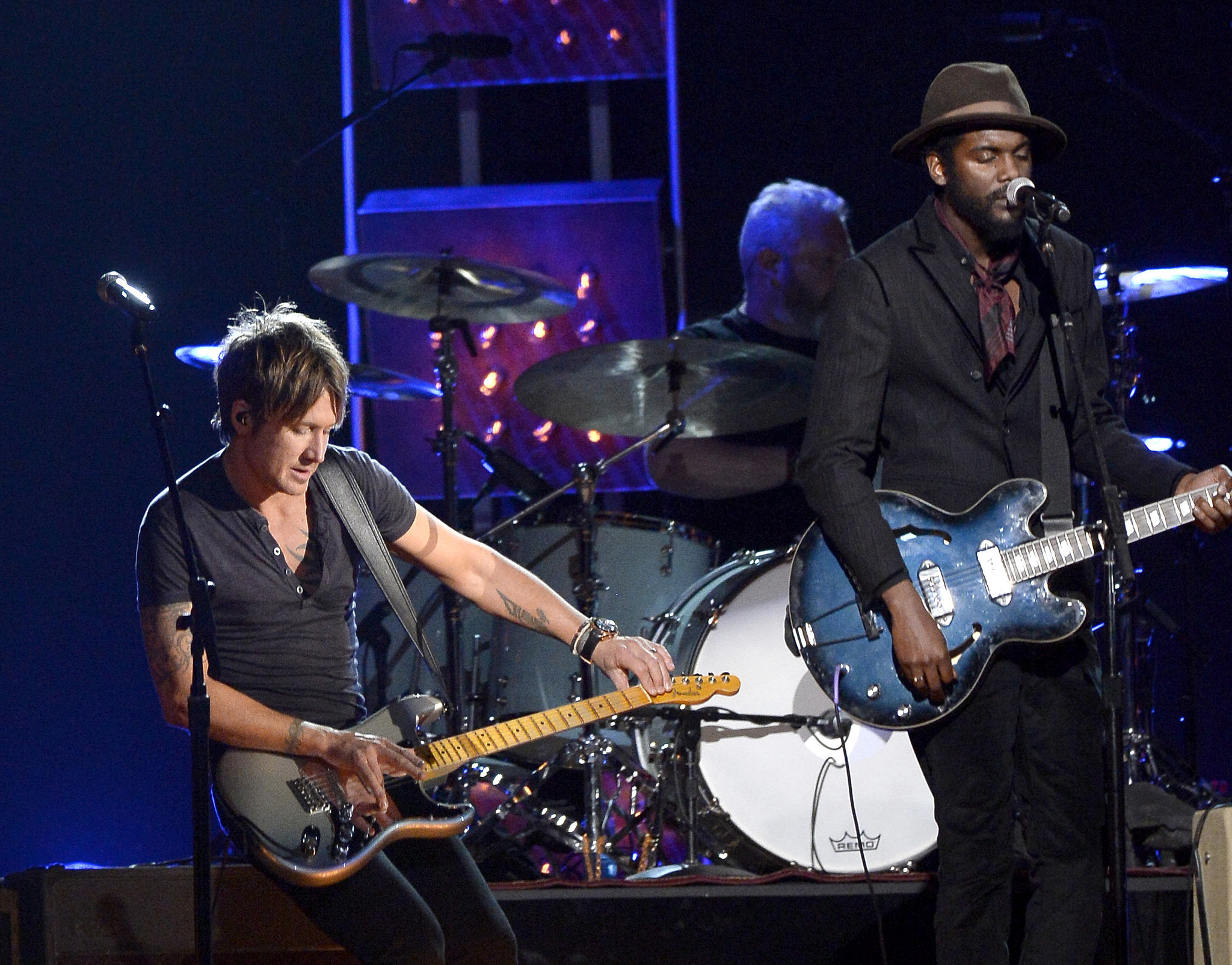 "Keith Urban and Gary Clark, Jr. performed ""Cop Car"" together."
