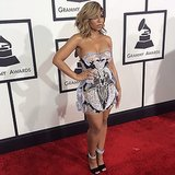Ashanti struck a pose on the Grammys red carpet. Source: Instagram user ashanti
