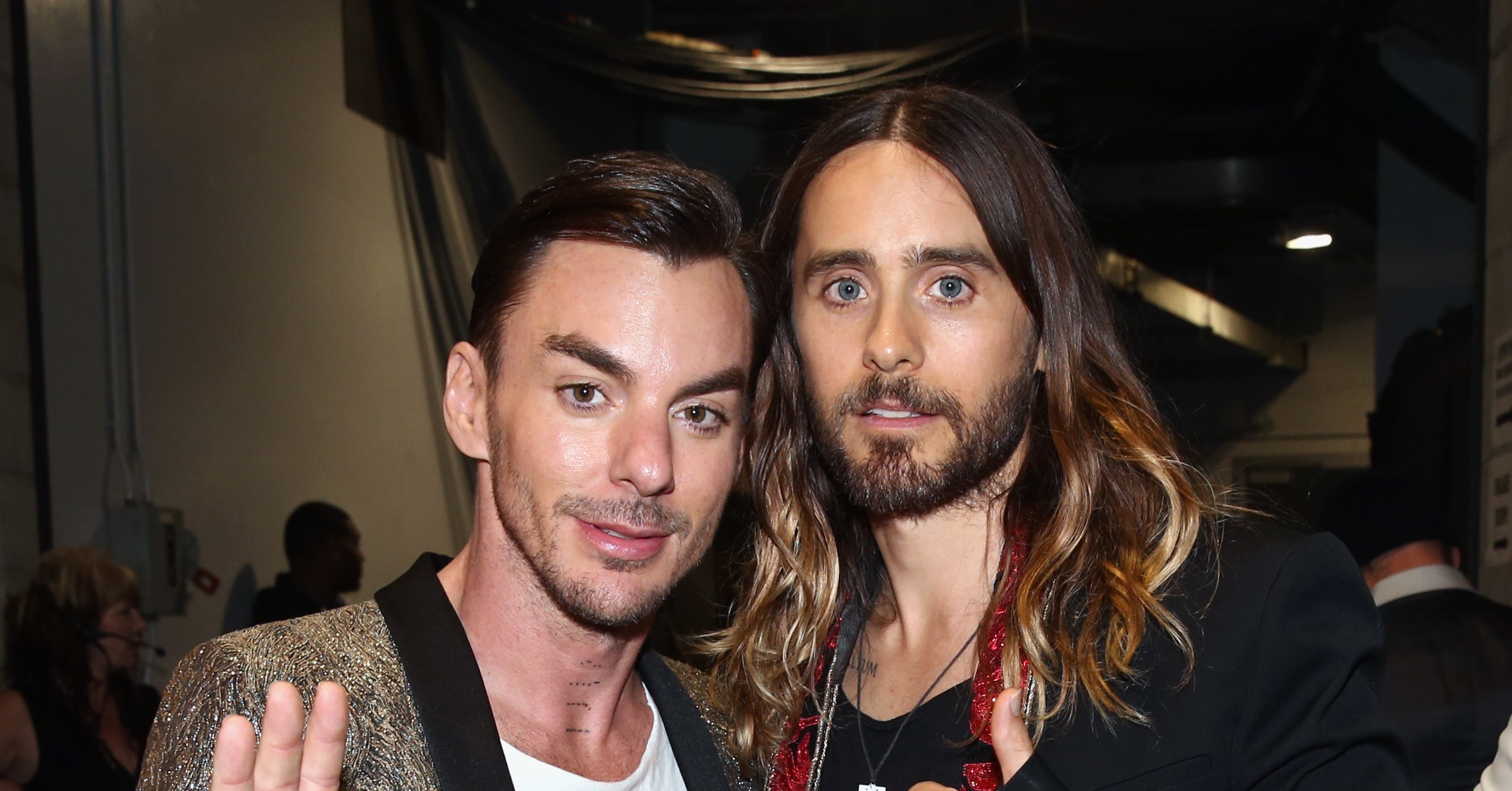 Jared Leto brought his brother Shannon to the show. | The ... Jared Leto