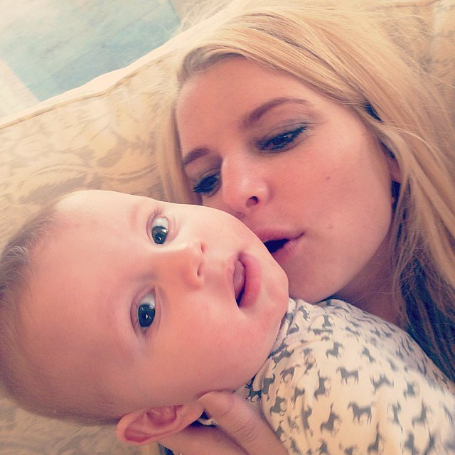 Jessica Simpson Gave Ace Johnson a Kiss