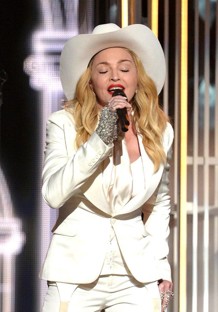Madonna sang during Macklemore's performance.