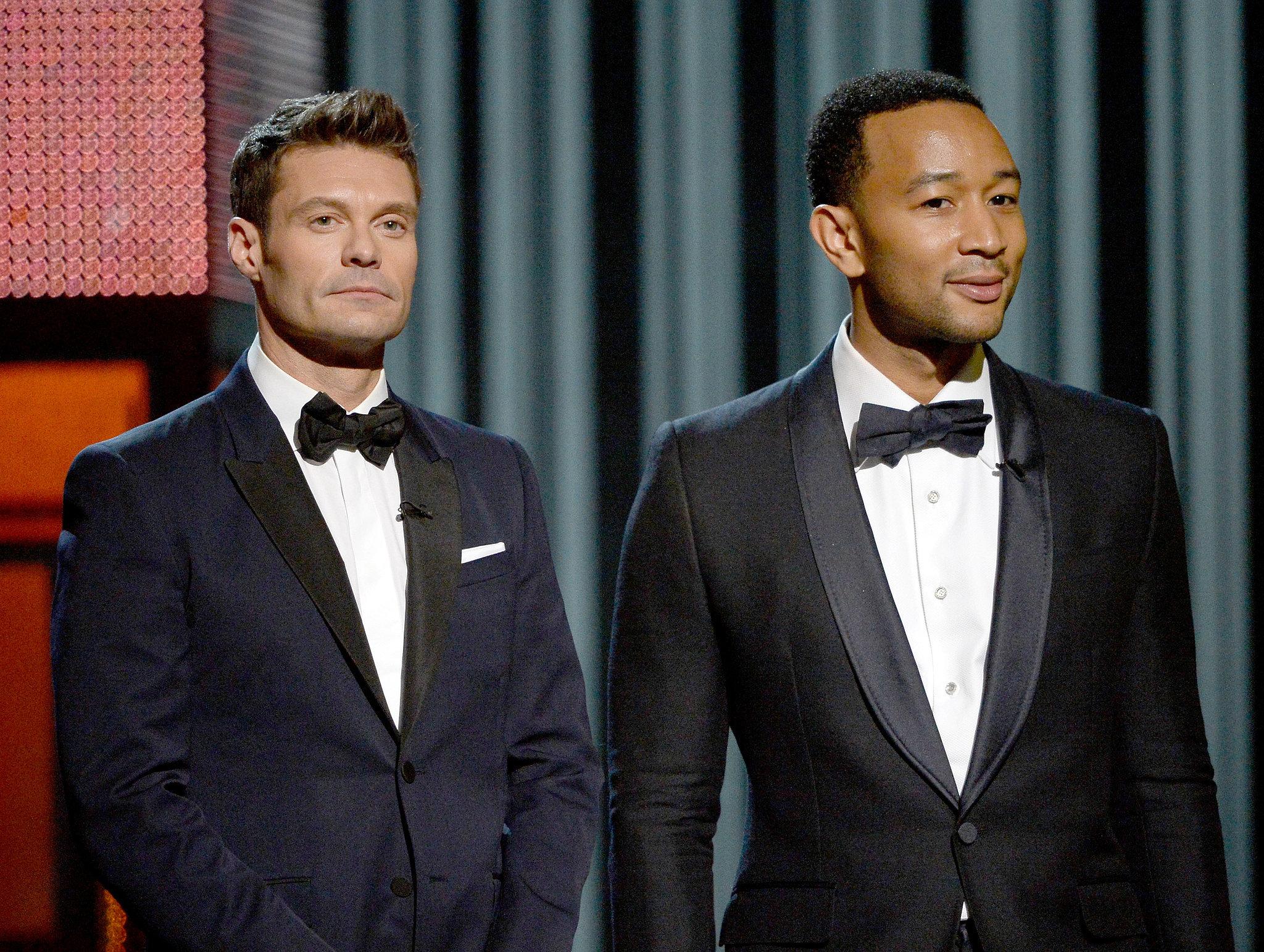 Ryan Seacrest and John Legend looked dapper.