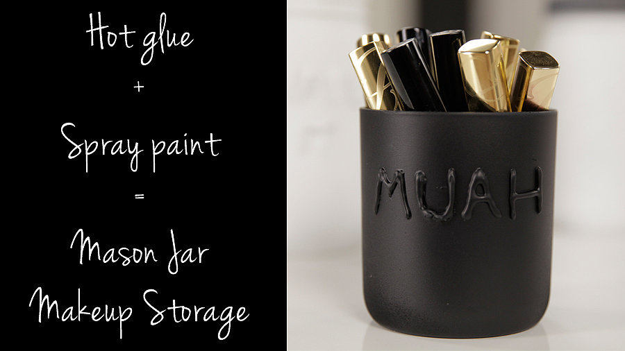 Mason Jar Makeup Storage: The Cutest DIY Ever?