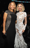 Queen Latifah and Beyoncé smiled for a snap at the Grammy Awards.