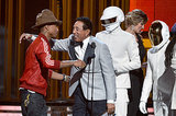 Smokey Robinson hugged Pharrell Williams as he and Daft Punk won.