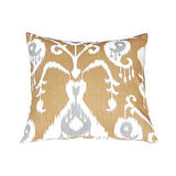 Use the metallic colors in this ikat pillow ($22) to add glamour to your bedding.